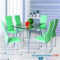 Điểm nhấn về màu sắc của bộ bàn ghế ăn hòa phát cho phòng ăn sang trọng