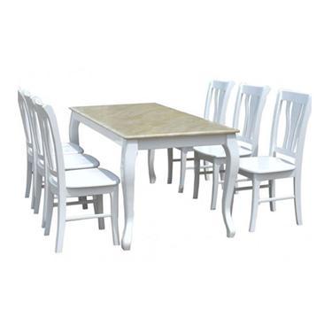 Bàn ghế ăn gỗ tự nhiên HGG61