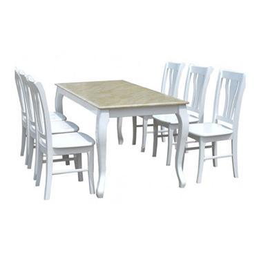 Bộ bàn ghế ăn gỗ tự nhiên HGB61